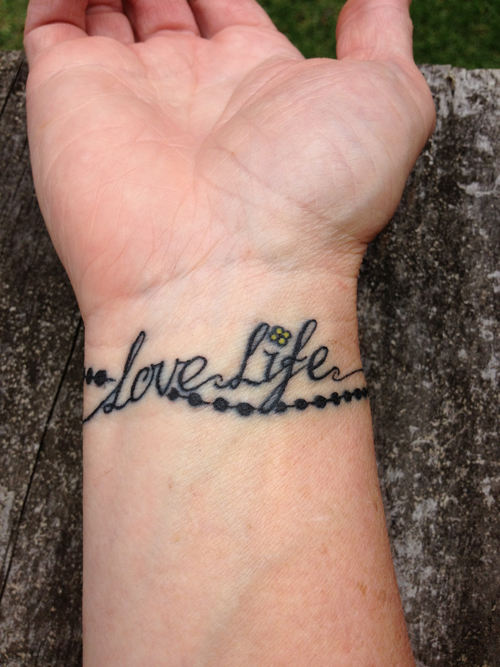 Love Life Tattoo On Wrist