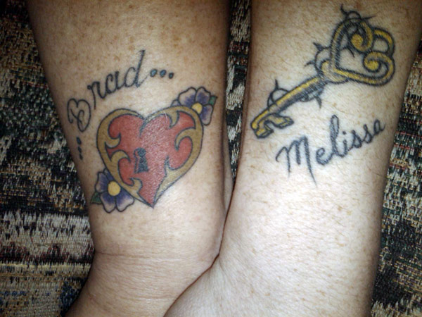 Love Lock And Key Tattoo For Couples