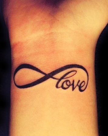 Love n Infinity Symbol Tattoo On Wrist