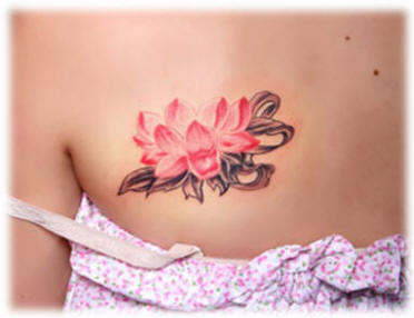 Lovely Lotus Tattoo For Women