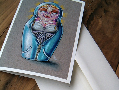 Matryoshka Tattoo Card