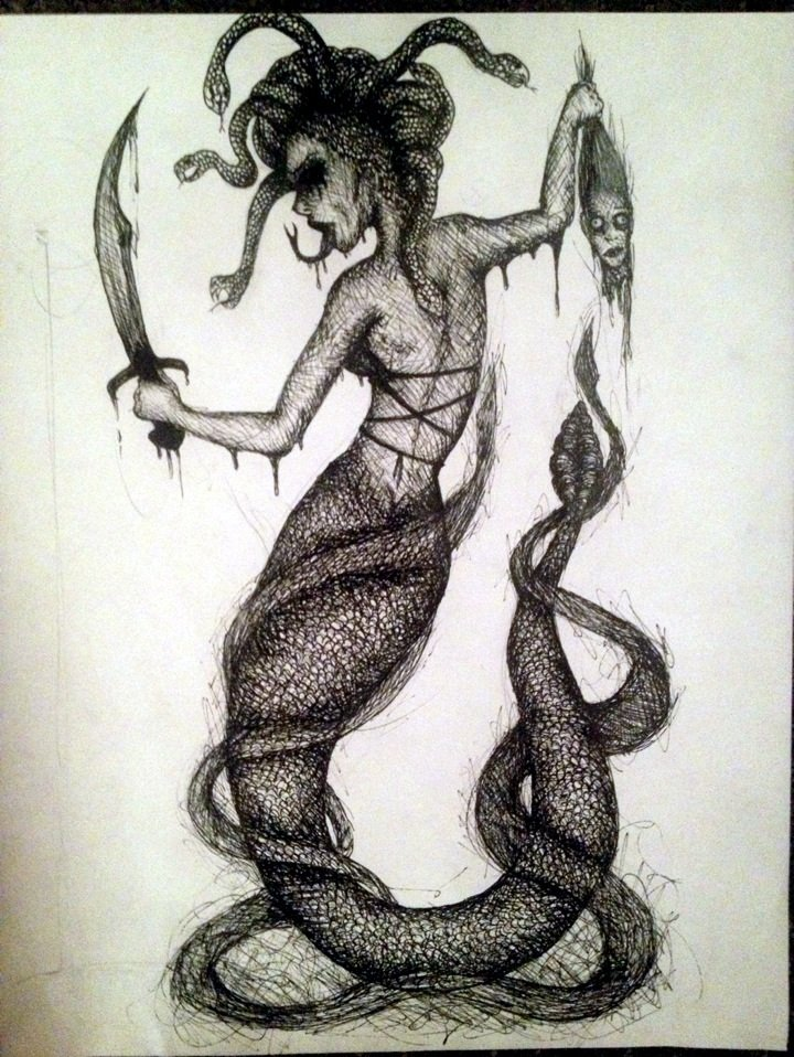 Medusa Tattoo Design Concept