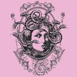 Medusa Tattoo Design Over Pink Background