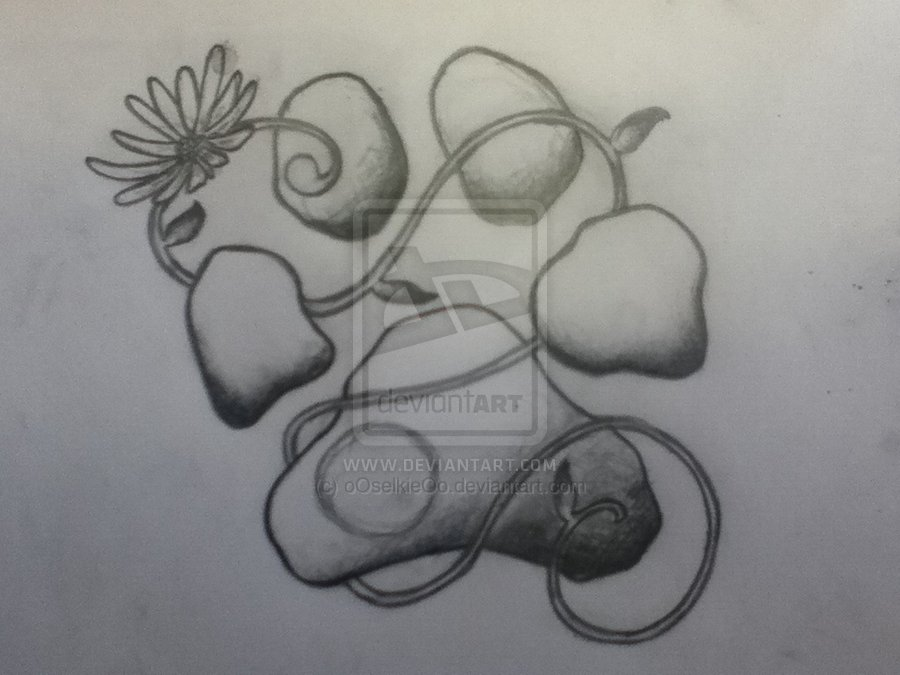 Memorial Paw Print Tattoo Design
