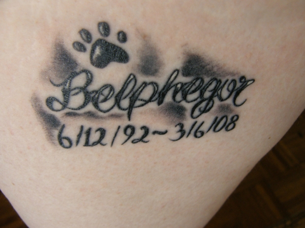 Memorial Paw Print Tattoo