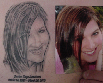 Memorial Portrait Tattoo Designs