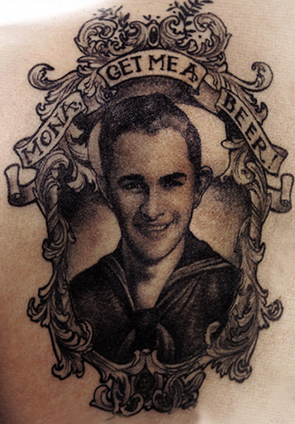 Memorial Portrait Tattoo