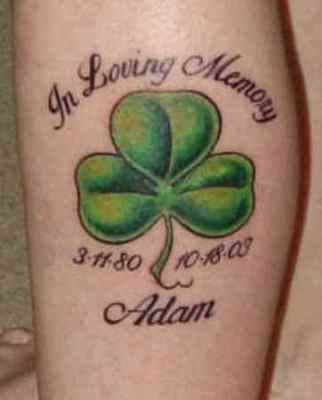 Memorial Shamrock Tattoo Design