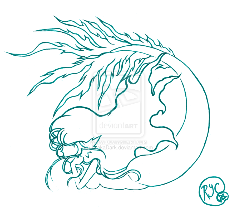 Mermaid Outline Tattoo Tattoos Designs And Ideas Page 11