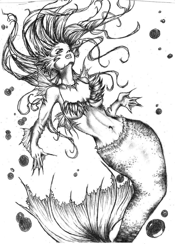 Mermaid Tattoo Pattern
