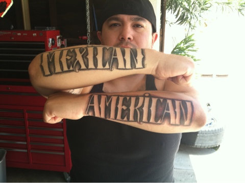 Mexican American Lettering Tattoo Designs