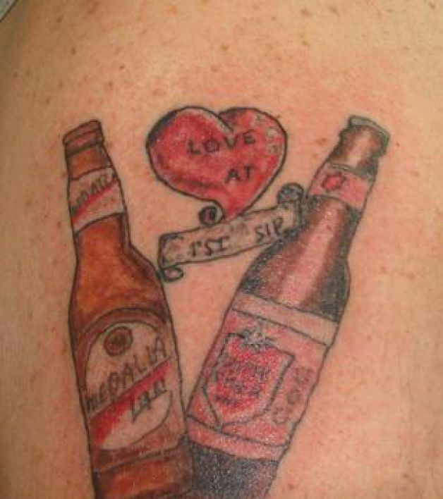 Mexican Beer Tattoo Design