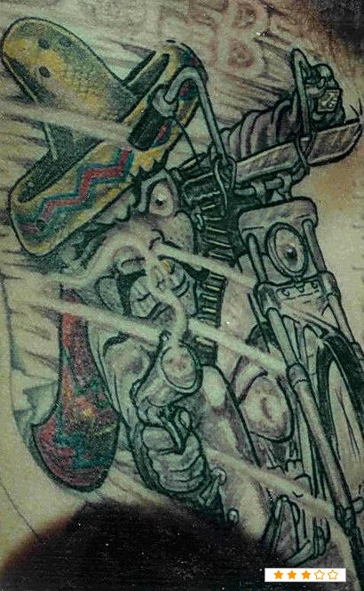 Mexican Biker Tattoo Design