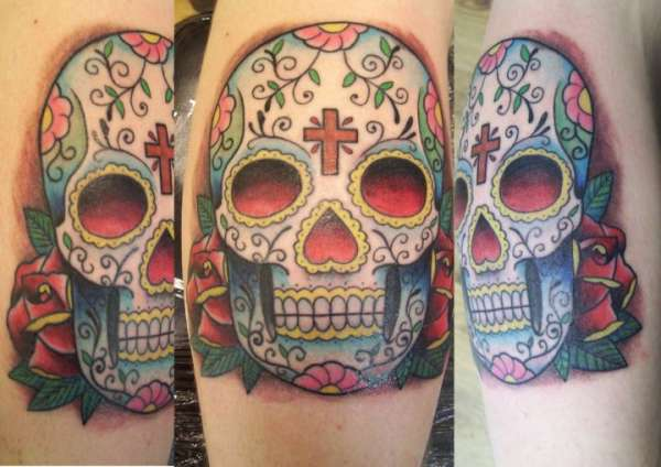 Mexican Candy Skull Tattoo Designs