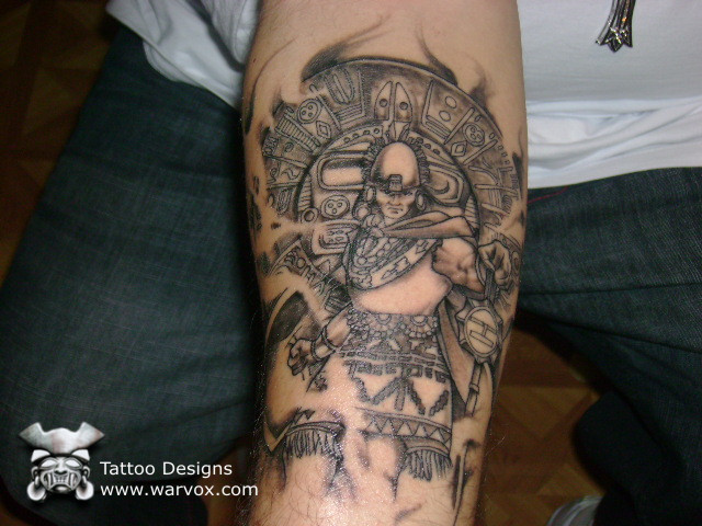 Mexican Emperor Tattoo On Arm