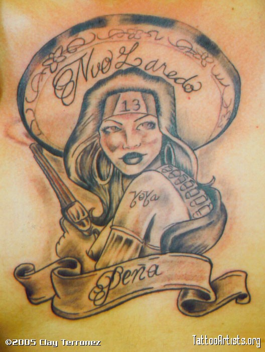 Mexican Gangsta Girl Tatto