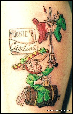 Mexican Leprechaun Tattoo Design