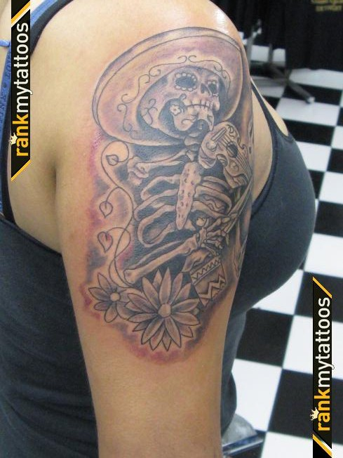 Mexican Skeleton Tattoo On Arm
