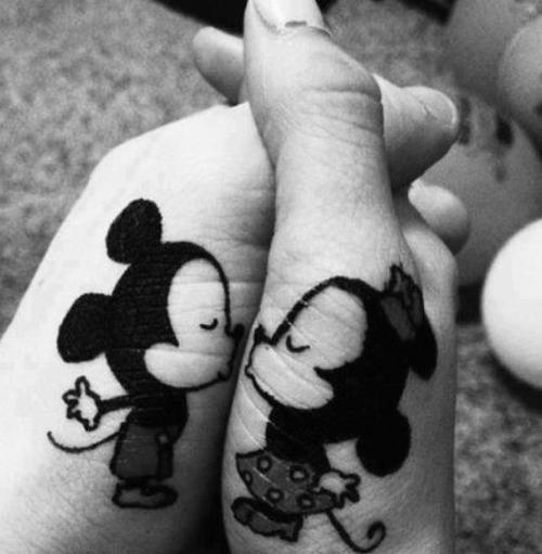 Mickey Love Tattoo Design