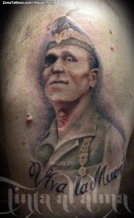 Military Man Portrait Tattoo Design