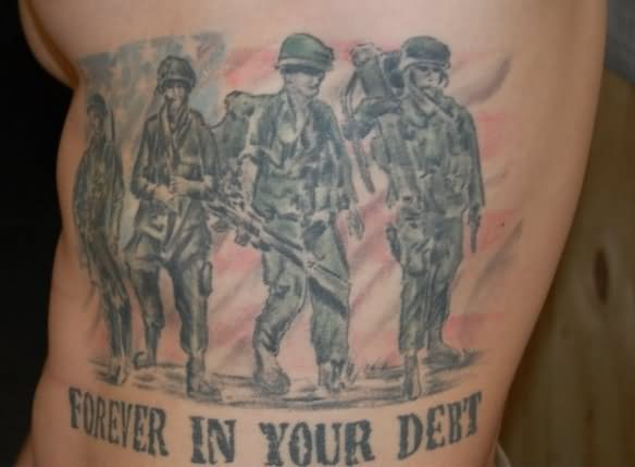 Military Soldiers Tattoo Design