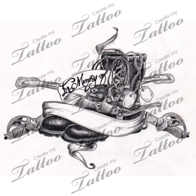 Military Tattoo Flash