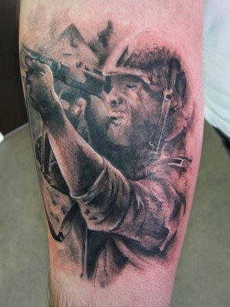 Military War Soldier Tattoo Design On Arm