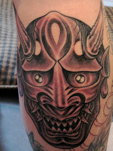 Mystery Mask Tattoo Design