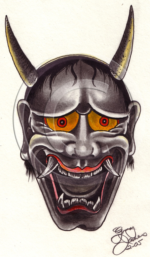 New Hannya Mask Tattoo Model