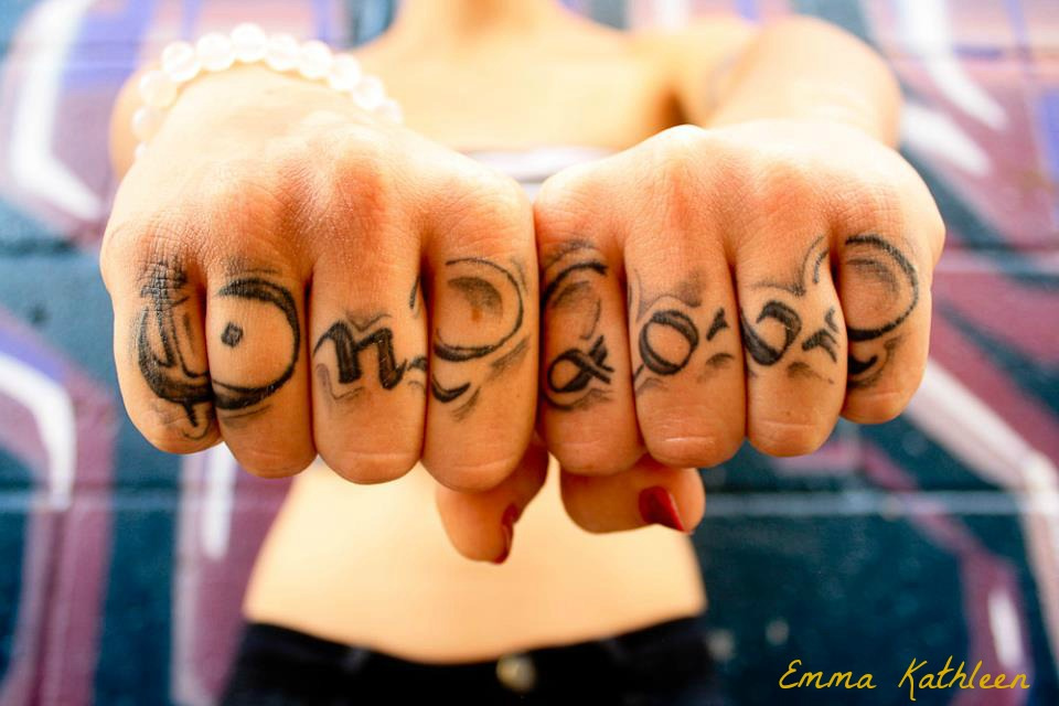One Love Knuckle Tattoo Design