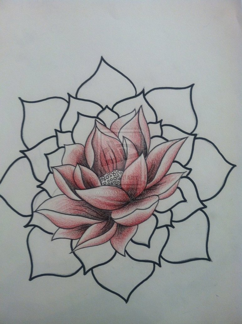 One More Lotus Tattoo Design
