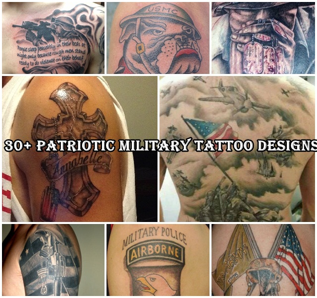 Patriotic Military Tattoo Designs