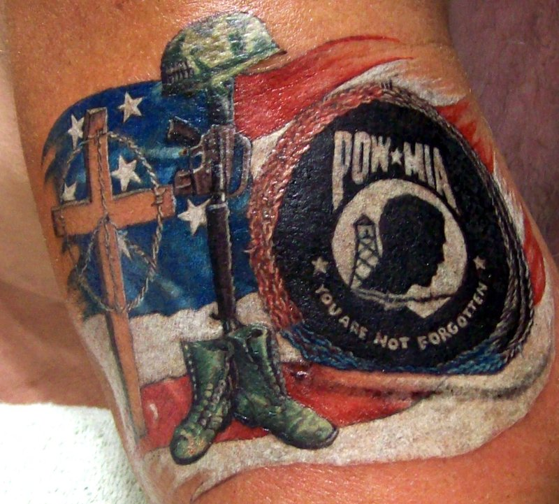Pow Mia Military Tattoo Art