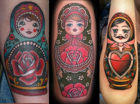 Russian Matryoshka Doll Tattoo Designs