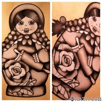 Russian Matryoshka Tattoo Designs