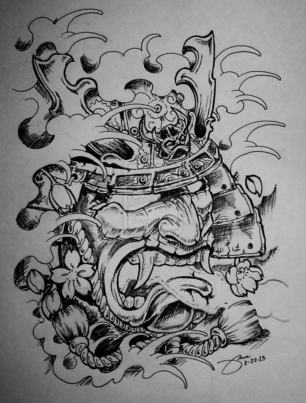 Gallery For gt Samurai Mask Tattoo Designs