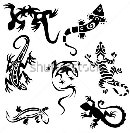 Seven Lizards Tattoo Designs