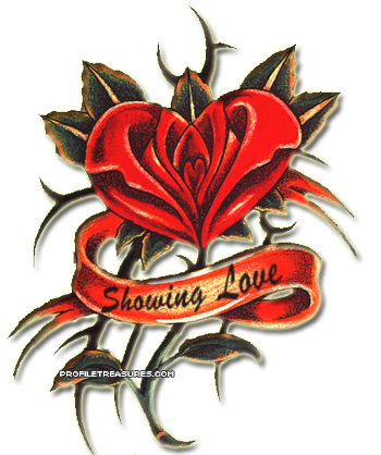 Showing Love Tattoo Graphic