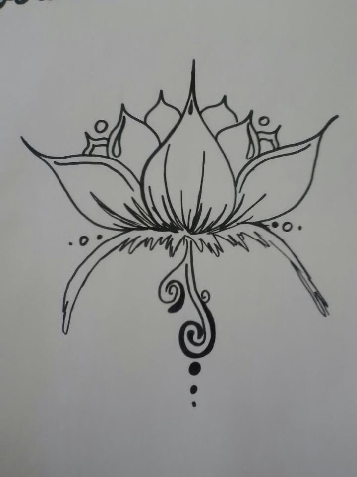 Simple Lotus Tattoo Art Picture