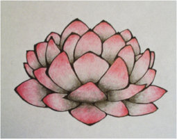 Single Lotus Flower Tattoo Design