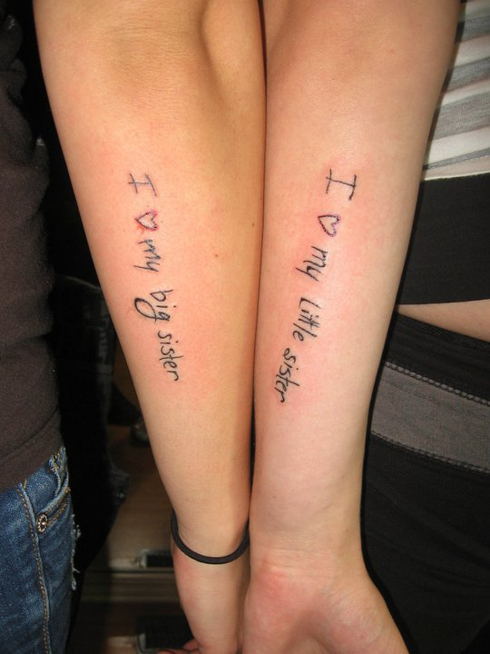 Sister Love Tattoo Designs