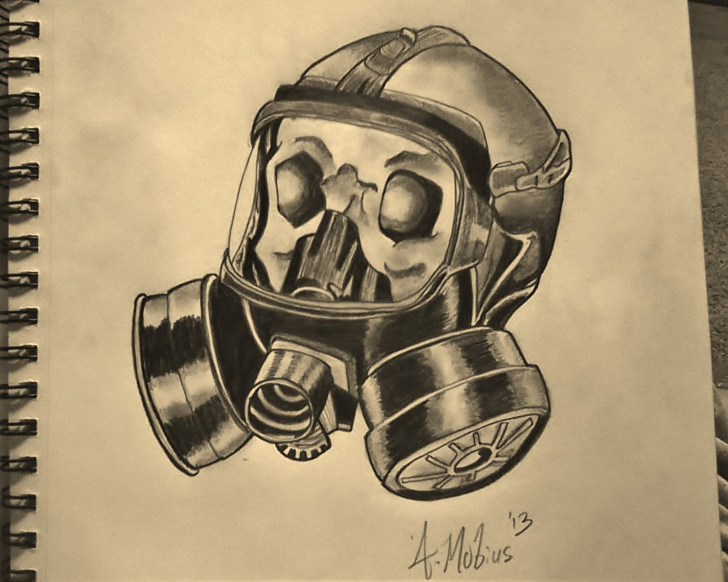 Skull With Gas Mask Tattoo Design Tattoobitecom