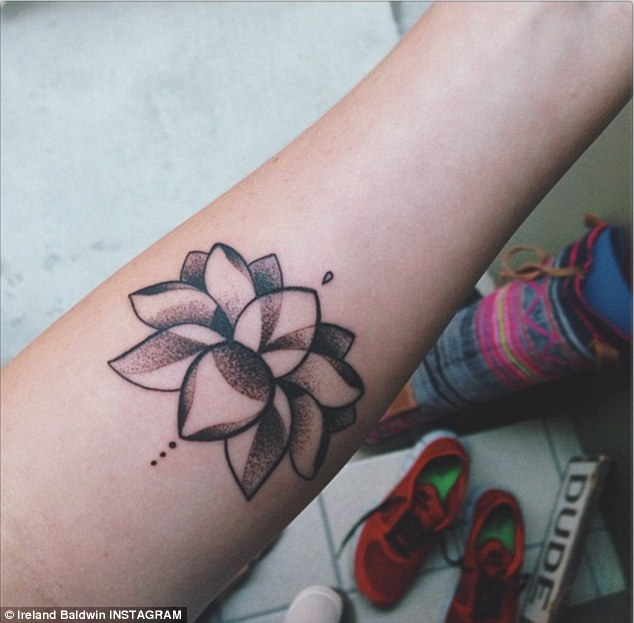 Small Lotus Flower Tattoo On Forearm