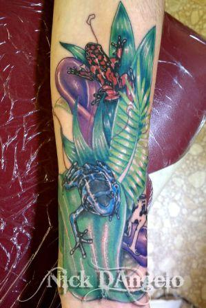 3D Poison Frog Tattoo