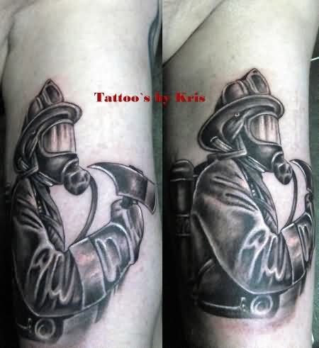 A Firefighter Tattoo Image