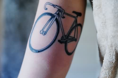 Amazing Cycle Tattoo On Arm