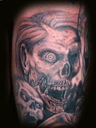 Amazing Skull Horror Tattoo