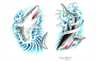 Traditional shark tattoo designs - photo#26