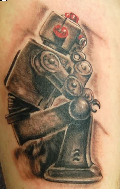 Army Robot Tattoo Design