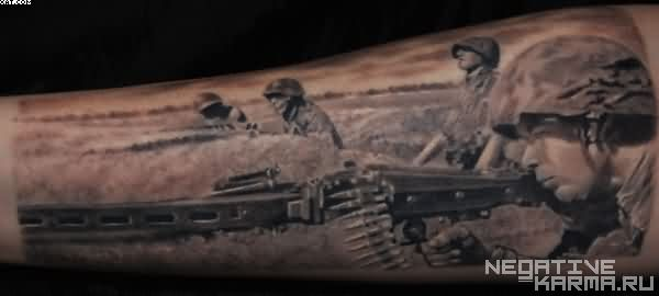 Army Sniper Tattoo Design